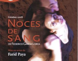 Spectacle Noces de Sang de F-G Lorca